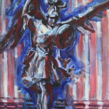 Archanděl Michael II. - Jindřich Bílek - oil painting
