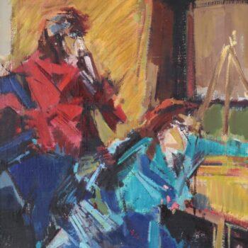 Aus Café de Zon I. - Jindřich Bílek - oil painting
