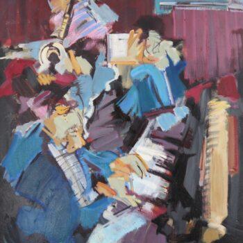 Aus Jazzkonzert I. - Jindřich Bílek - oil painting