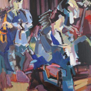 Aus Jazzkonzert II. - Jindřich Bílek - oil painting