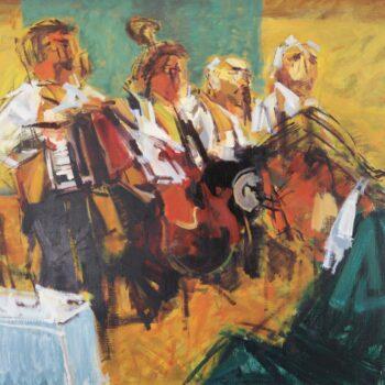 Aus Vernisage meines Bildes in Wels (Austria) - Jindřich Bílek - oil painting