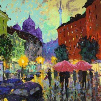 Berlín 2013 - Vladimir Domničev - acrylic painting