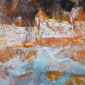 Bez názvu - Ladislav Hodný - combined painting