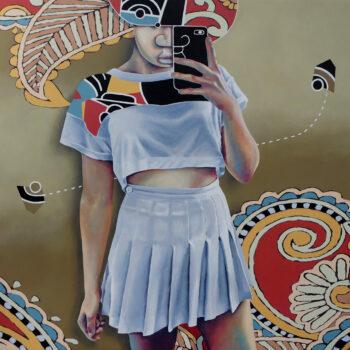 Bien loin ď ici - Manuel Martinez - acrylic painting