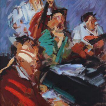 Billie Holiday spívá - Jindřich Bílek - oil painting