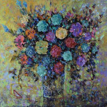 Bouquet of roses - Vladimir Domničev - acrylic painting