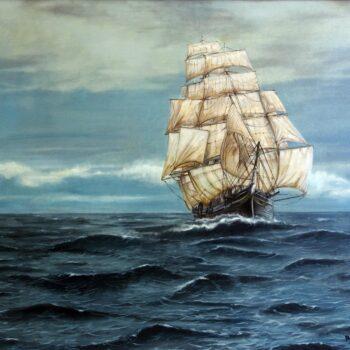 Čajový klipr - Václav K. Killer - oil painting