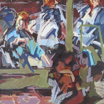 Čekání na orchestr - Jindřich Bílek - oil painting