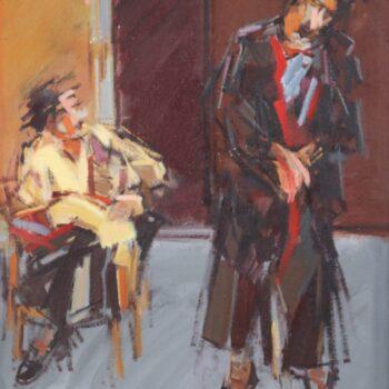Cizinci - Jindřich Bílek - oil painting