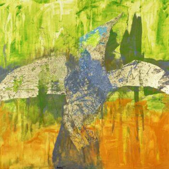 Daidalos - Ladislav Hodný - combined painting