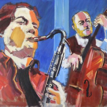 Duet - Jindřich Bílek - oil painting