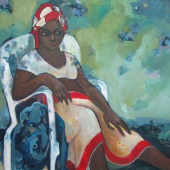 Expectation 2 - Solomon Teshome Jenbere - acrylic painting