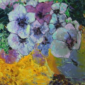 Fialové květy - Vladimir Domničev - acrylic painting