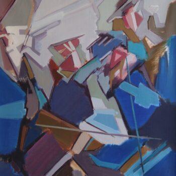 Fragment - Jindřich Bílek - oil painting