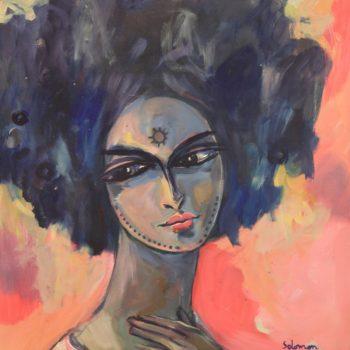 I love you - Solomon Teshome Jenbere - acrylic painting