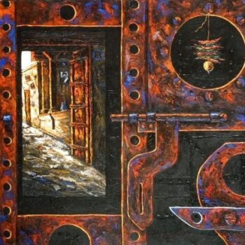 Iron door - Rajesh Pritam More - combined painting