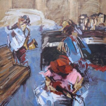 Jazz auf die Strasse - Jindřich Bílek - oil painting