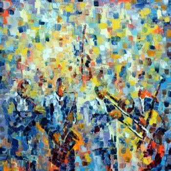 Jazz du Ciel - Ebip Serafedino - oil painting