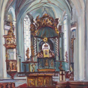Kaple I. - Jindřich Bílek - oil painting