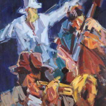 Konzert - Jindřich Bílek - oil painting