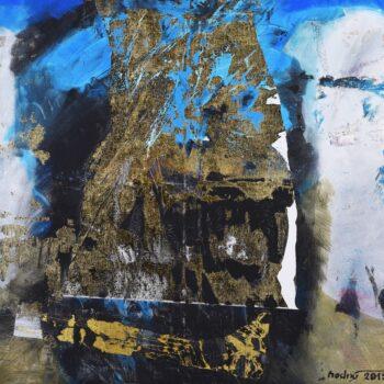 Koráb - Ladislav Hodný - combined painting