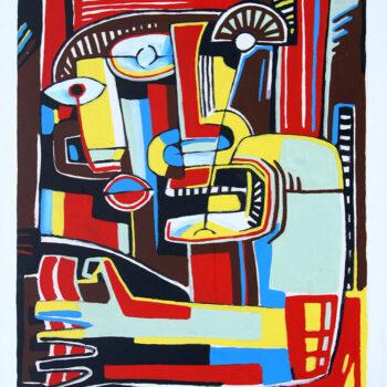 Ľaccordeur de piano - Manuel Martinez - acrylic painting