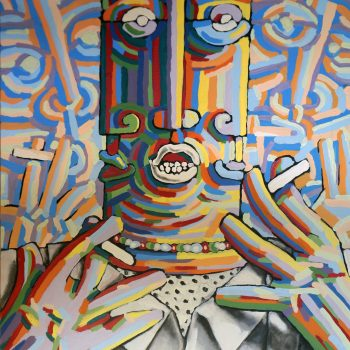 Le feu sacré - Manuel Martinez - acrylic painting