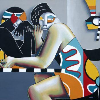 Les colocs - Manuel Martinez - acrylic painting