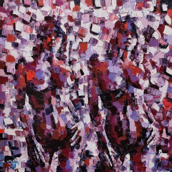 Les fausses jumelles - Ebip Serafedino - oil painting