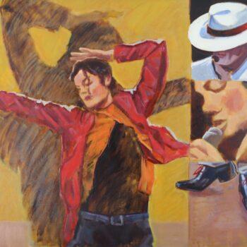 Michael Jackson - Jindřich Bílek - oil painting