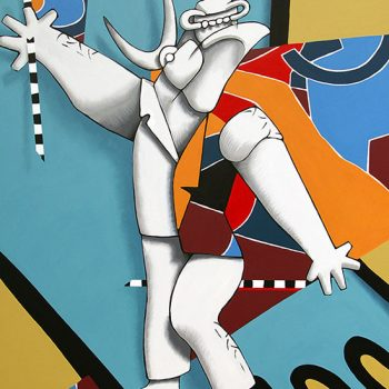 Minotaure te salutan - Manuel Martinez - acrylic painting