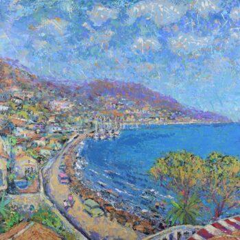 Pobreží Costa Blanca - Vladimir Domničev - acrylic painting