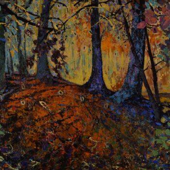 Podzim v lese - Vladimir Domničev - acrylic painting
