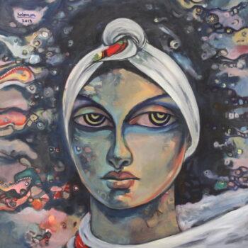 Portrait 1 - Solomon Teshome Jenbere - acrylic painting