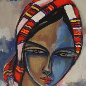 Portrait 4 - Solomon Teshome Jenbere - acrylic painting