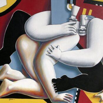Prise multiple - Manuel Martinez - acrylic painting