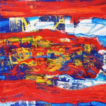 Řeka - Ladislav Hodný - combined painting