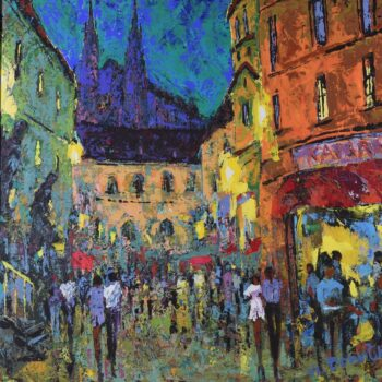 Ruch starého města - Vladimir Domničev - acrylic painting
