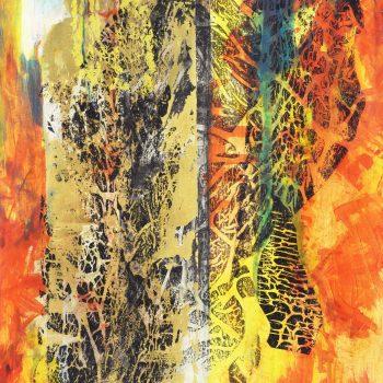 Stopy života - Ladislav Hodný - combined painting