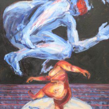 Tanec I., Tanz - Jindřich Bílek - oil painting