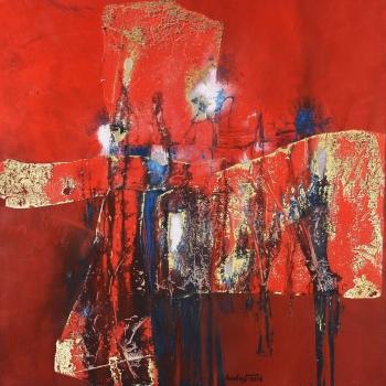 Téměř soumrak - Ladislav Hodný - combined painting