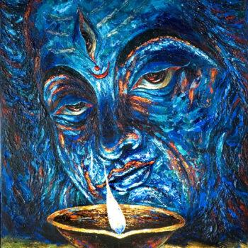 Third eye - Rajesh Pritam More - combined painting