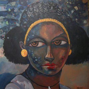 Tigray Woman - Solomon Teshome Jenbere - acrylic painting