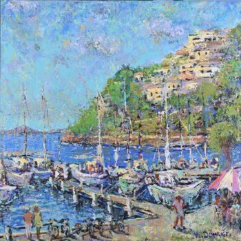 U přístavu - Vladimir Domničev - acrylic painting