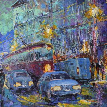 Ulice - Vladimir Domničev - acrylic painting