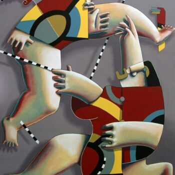 Un ange passe - Manuel Martinez - acrylic painting
