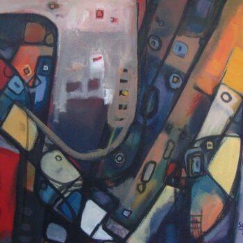 Untitled 2 - Solomon Teshome Jenbere - acrylic painting