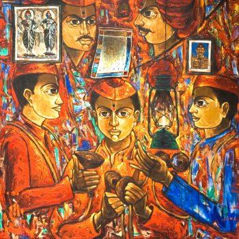 Varkari - Rajesh Pritam More - combined painting