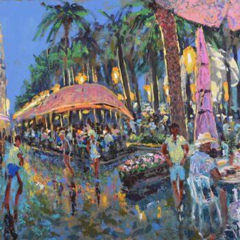 Večer v Alicante - Vladimir Domničev - acrylic painting