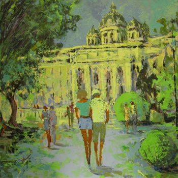Vienna 2014 Burggarten - Vladimir Domničev - acrylic painting